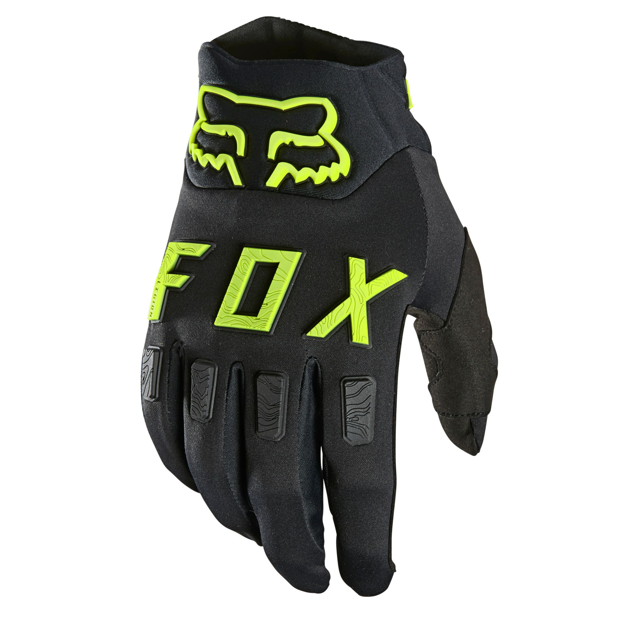 Gants cross Fox Legion water noir/jaune fluo  2021