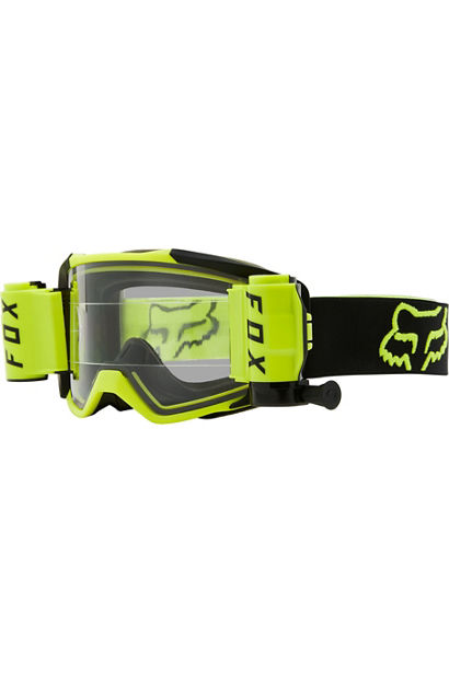 masque cross Fox Vue jaune fluo