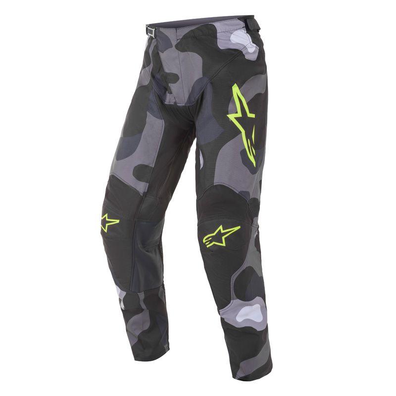 Pantalon cross Alpinestars Racer tactical gris camo/jaune fluo 2021