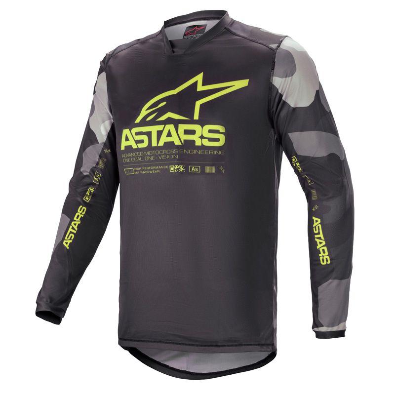 Maillot cross Alpinestars Racer Tactical gris camo/jaune fluo 2021