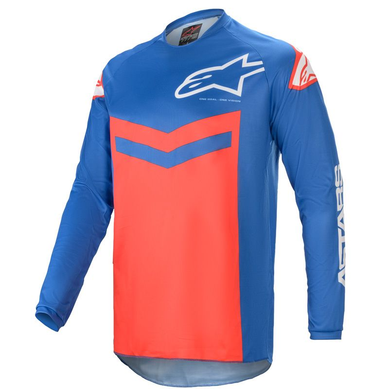 Maillot cross Alpinestars Fluid Speed bleu/rouge 2021
