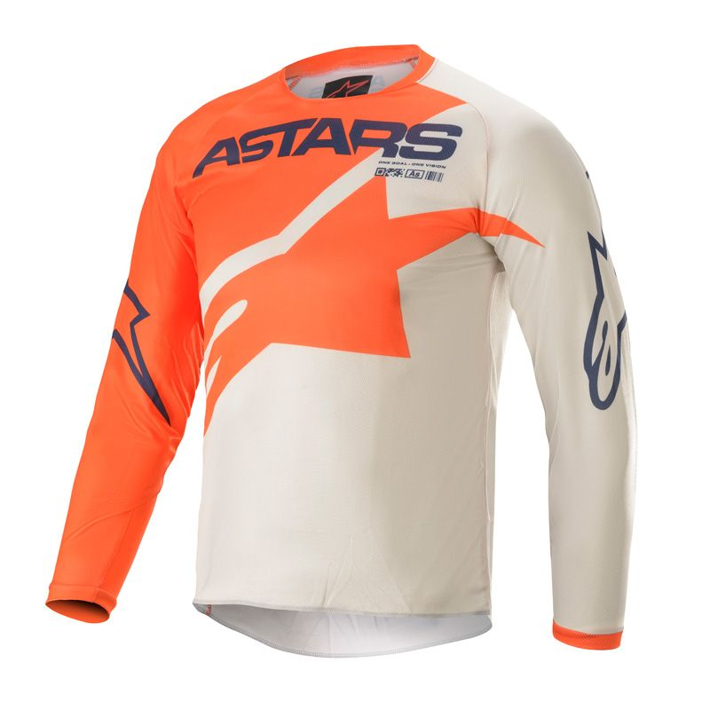 Maillot cross enfants Alpinestars racer braap orange/gris/bleu nuit 2021