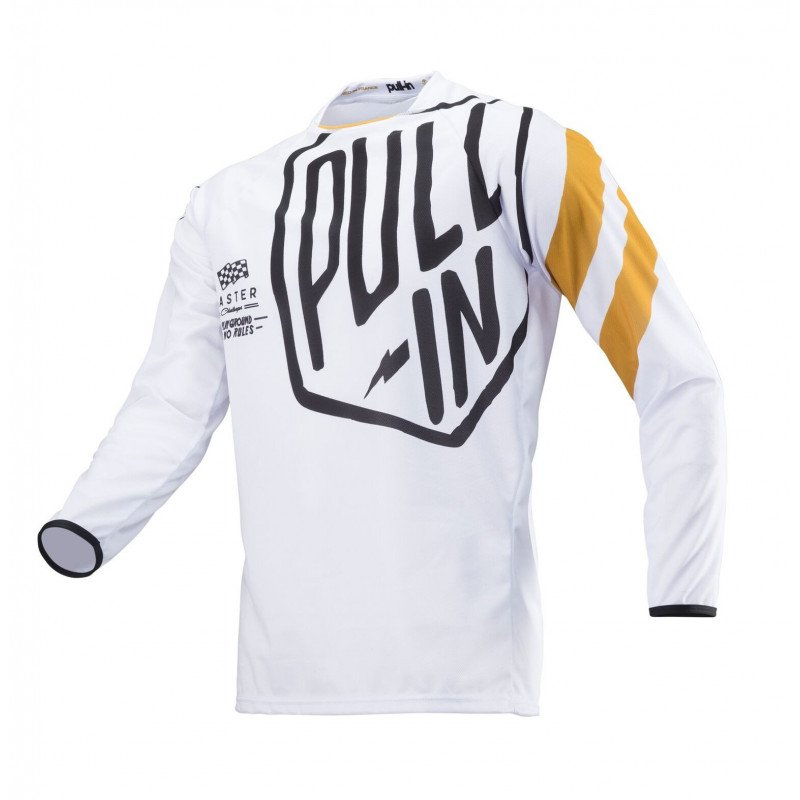 Maillot cross Pull In Challenger blanc noir gold