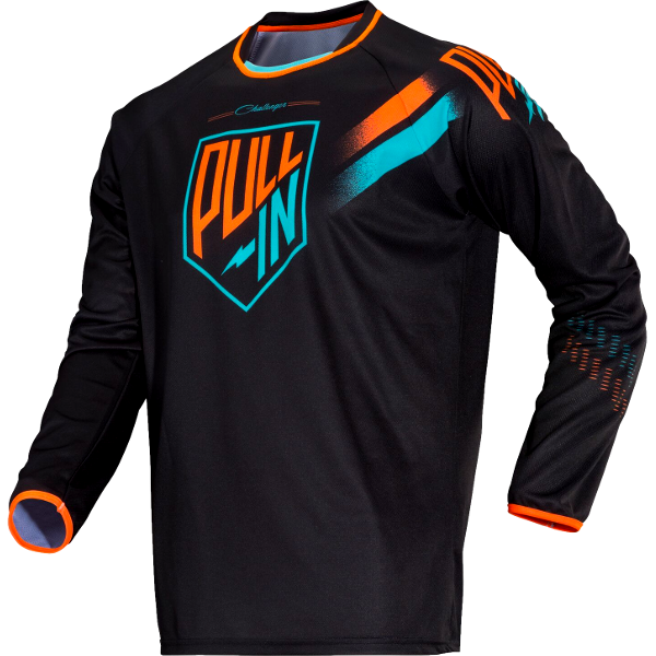 Maillot cross Pull In Challenger Noir Vert Orange