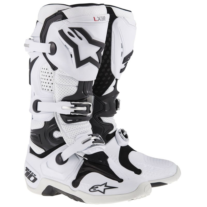 Bottes cross Alpinestars Tech 10 Blanc  2018