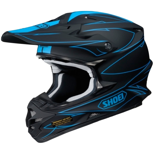 Casque cross Shoei Hectic bleu mat noir mat
